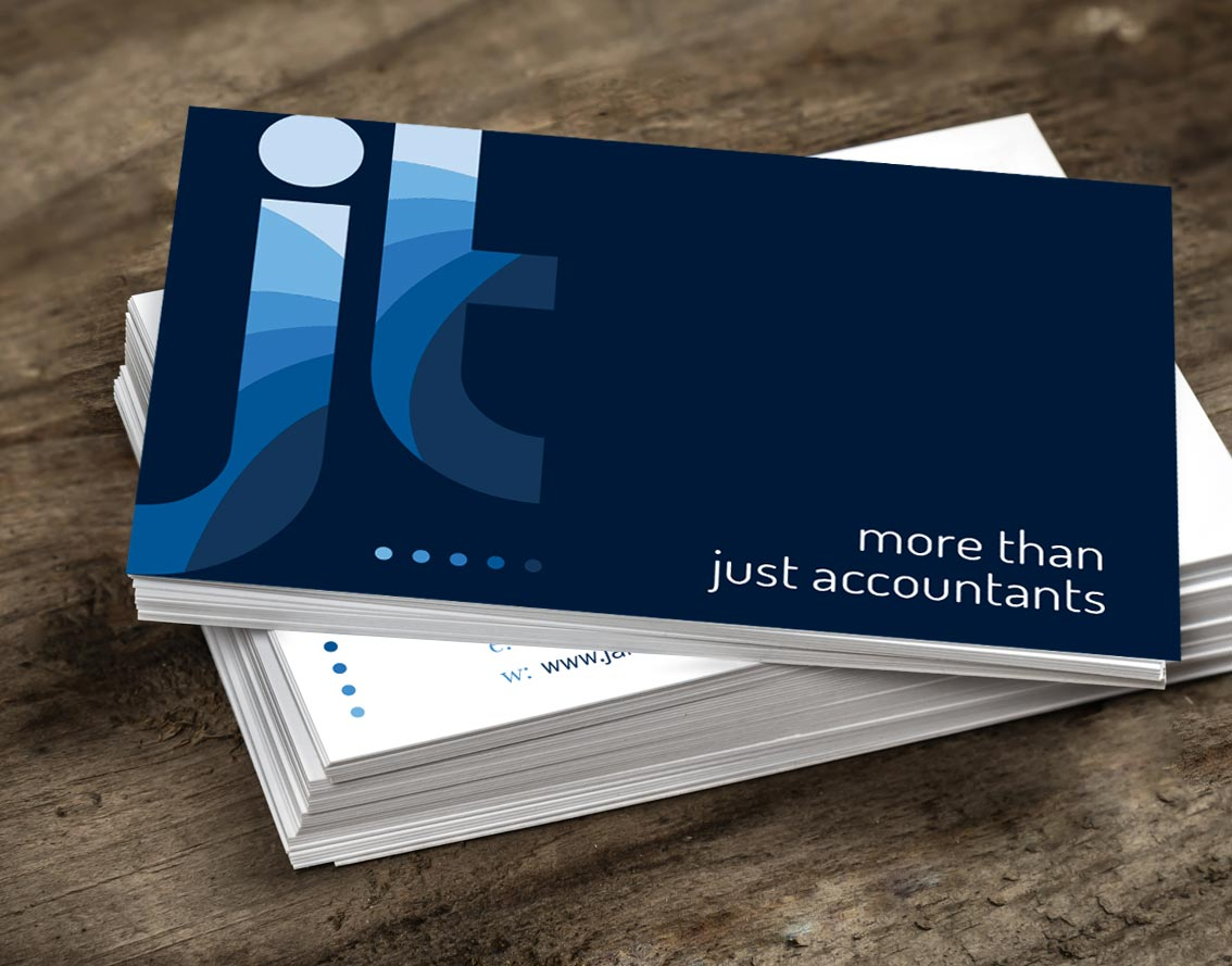 Image shows - Business card design for James Todd & Co accountants, by Oak Creatives.