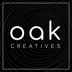 Image shows - Oak Creatives logo for website use.