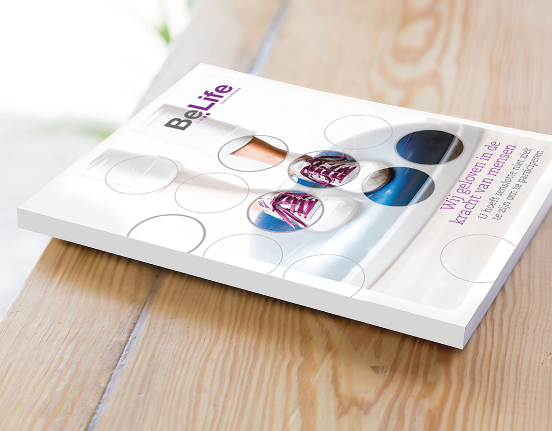 Image shows - BeLife brochure by Oak Creatives.