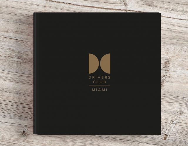 Image shows - Brochure for the Drivers Club, Miami, by Oak Creatives.