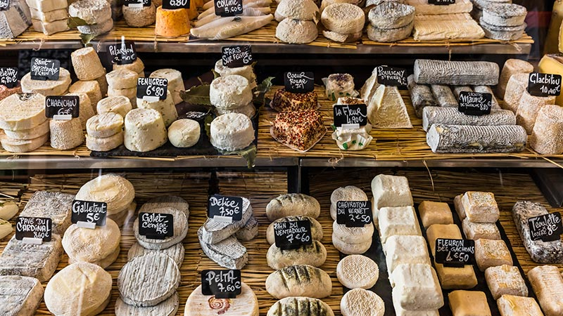 Image shows - We can learn a lot about Tone of Voice from a cheese counter.