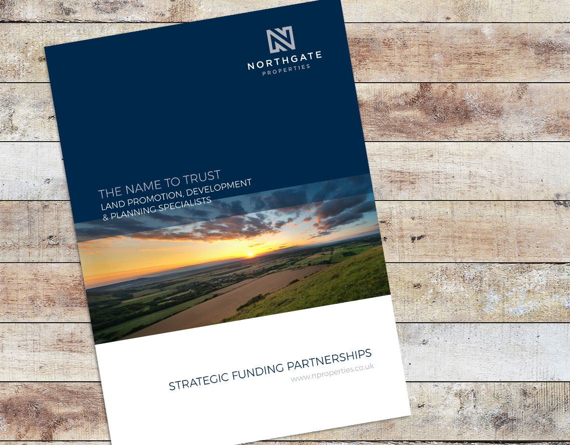 Image shows - Brochure for Northgate Properties. Content creation and design by Oak Creatives.