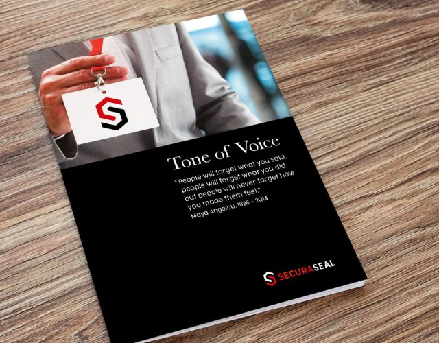 Image shows - Tone of Voice for Securaseal. Content creation and design by Oak Creatives.